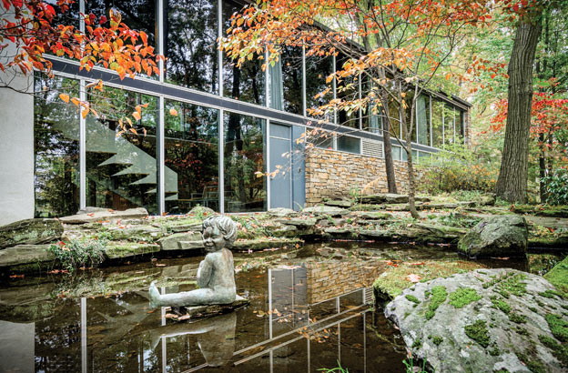Neutra-house-pond