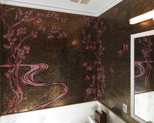 Tile-Mosaic-Cherry-blossoms