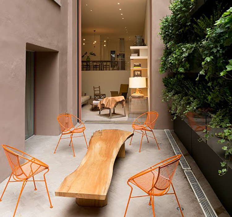 The patio offers a piece of the great outdoors in the city that never sleeps.