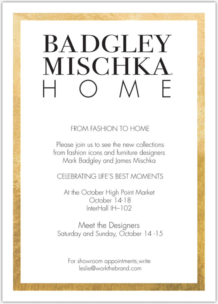 Badgley Mischka Home From Fashion to Home at High Point Market