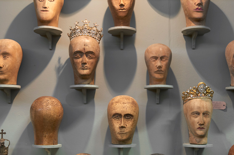 Milliner's Heads at Nick Jones