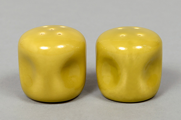 Russel Wright Salt & Pepper Shakers in Chartreuse
