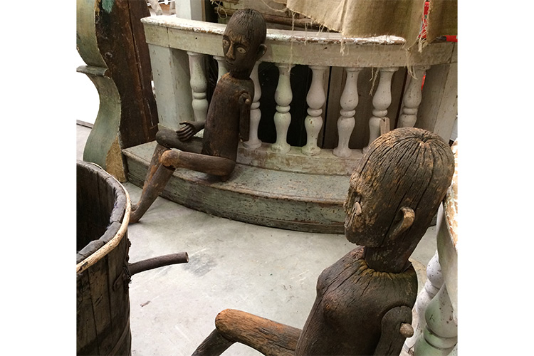 Male and female figures from Indonesia.