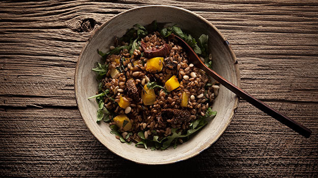 Rye Berry Salad with Roasted Butternut Squash by Jeanette Bronée