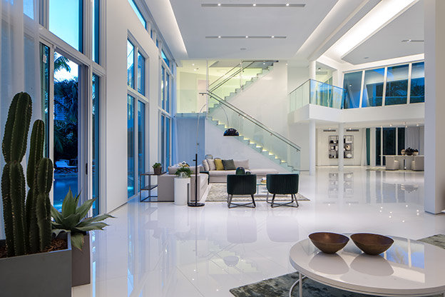 Modern Luxury Foyer : Quot the ark is a modern estate in miami unlike any other