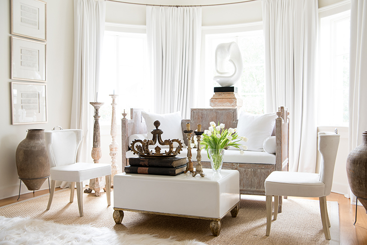 Marine Paint Was Used To Achieve The Dramatic Lacquer Finish On This White  Coffee Table With Gilded Trim. Designed For Tara Shaw Maison Custom, ...