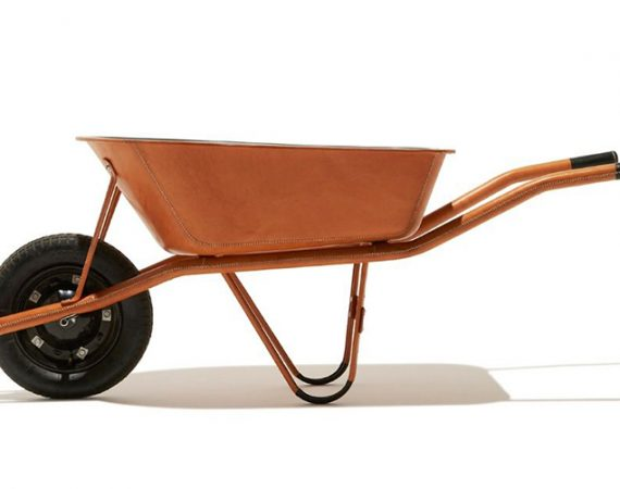 leather wheelbarrow