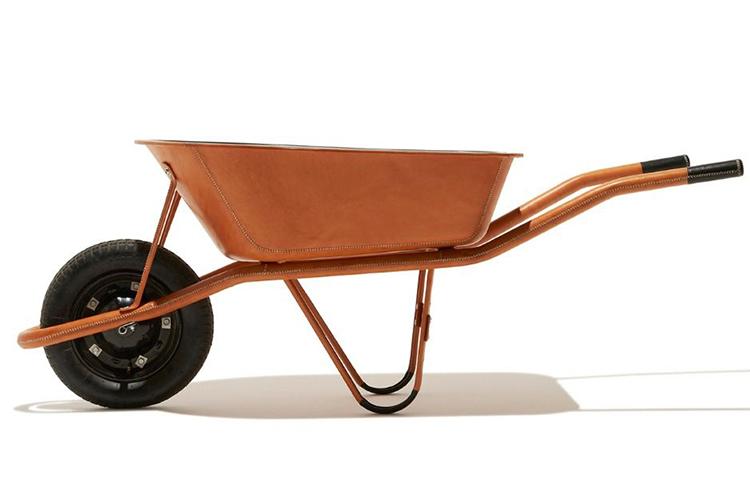 leather wheelbarrow
