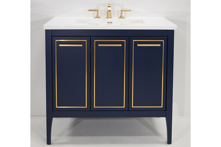 The Furniture Guild Offers A Beautiful Yet Practical Addition To Bathroom With Its Newest Transitional Vanity Lydia Generously Sized Neatly