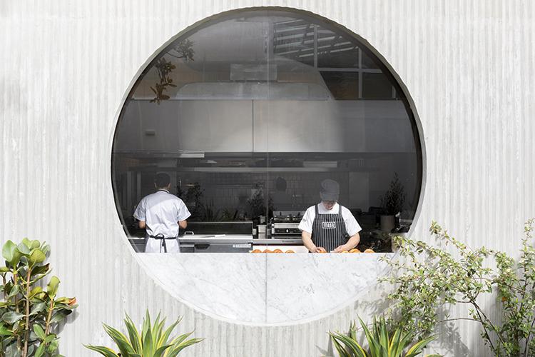 Casa Masa restaurant geometric window