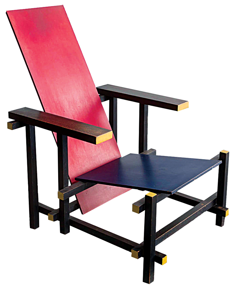 gerrit rietveld's red blue chair
