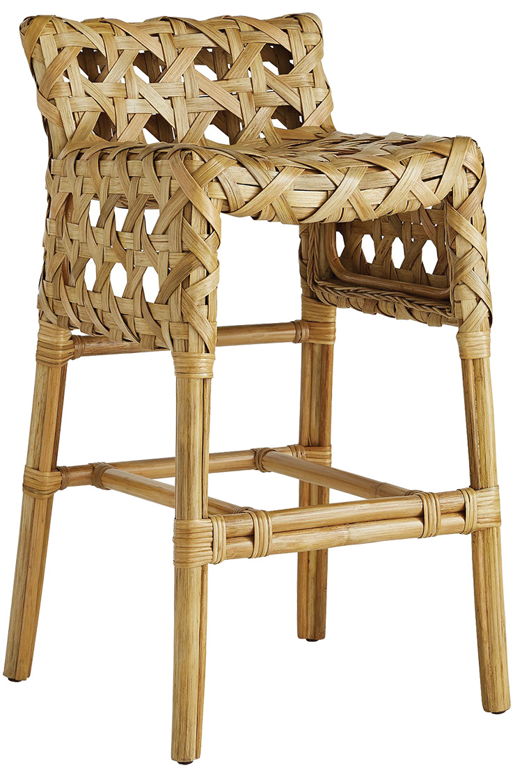 handwoven bar stool