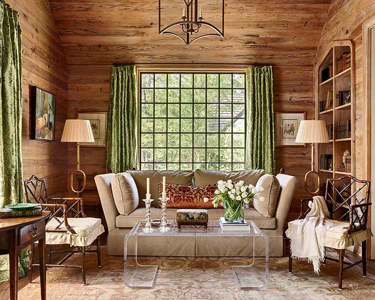 rustic glam living room project from Grey Walker