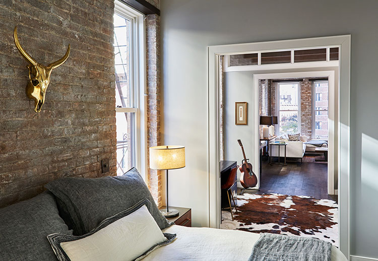 west village loft bedroom