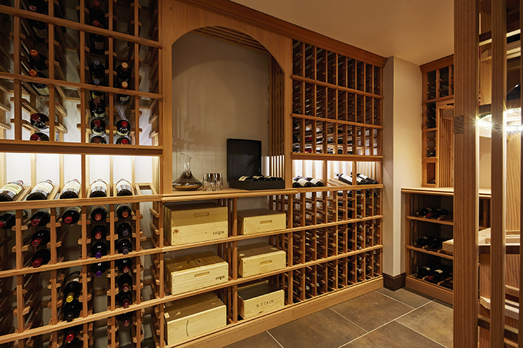 lakeside retreat wine cellar
