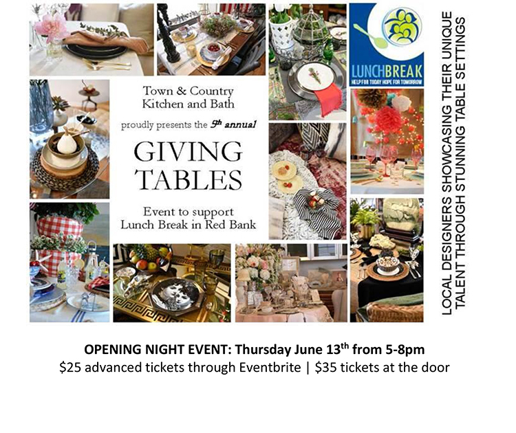 giving tables event