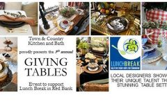 town and country kitchen and bath giving tables event