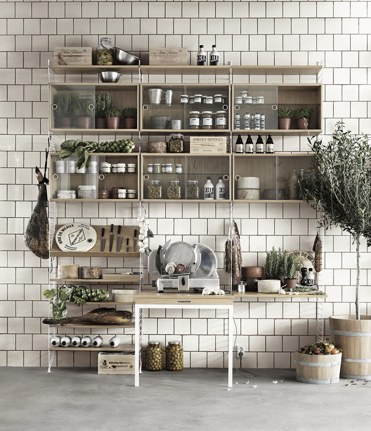 string extra large shelving system