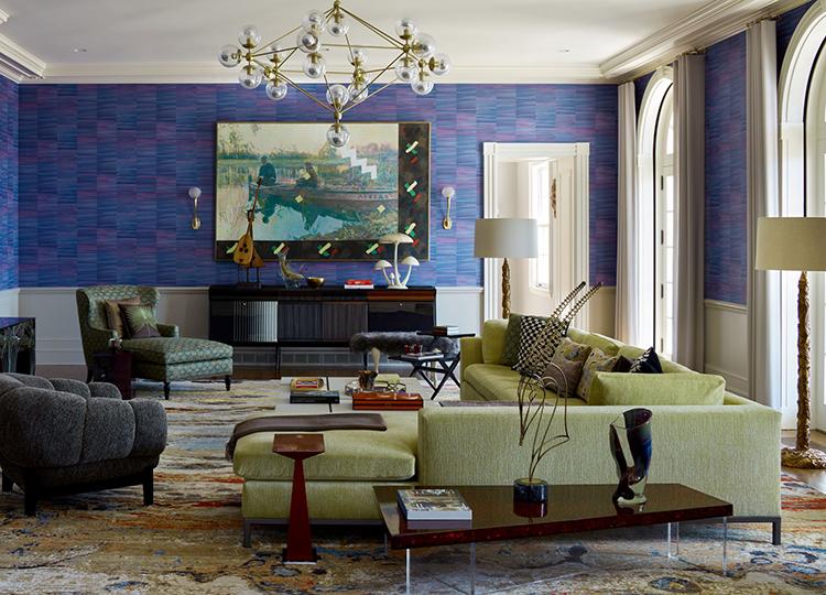 retro new york residence living room
