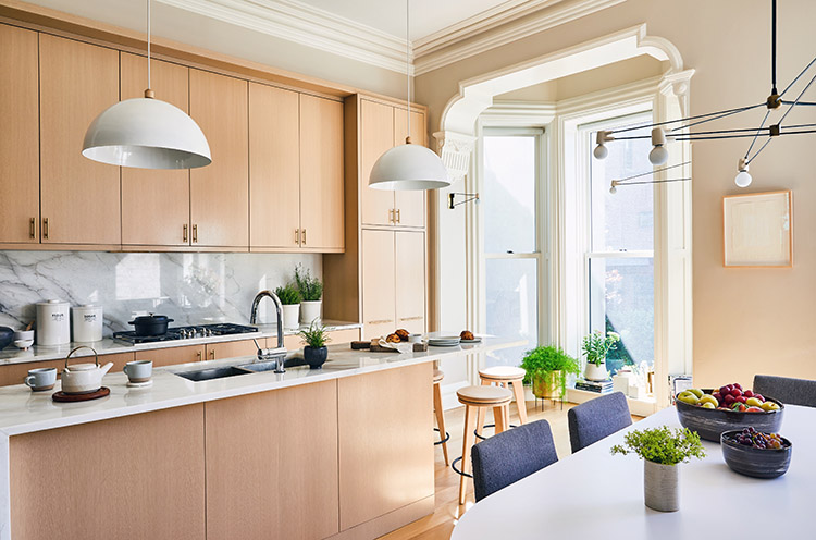 hoboken new jersey townhouse kitchen