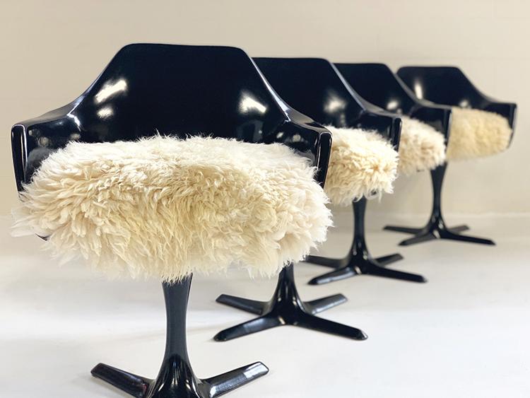 Burke Tulip-Style Armchairs