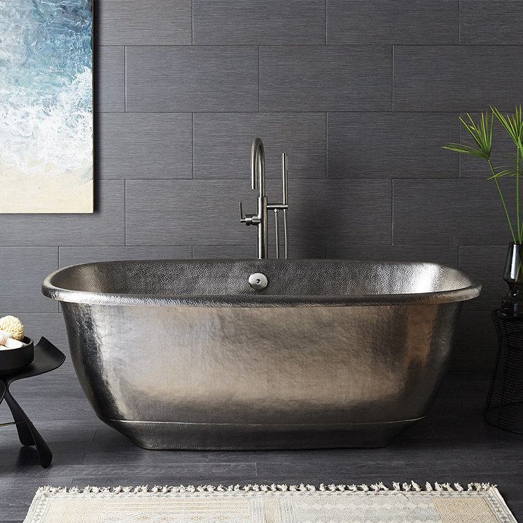 metallic tub