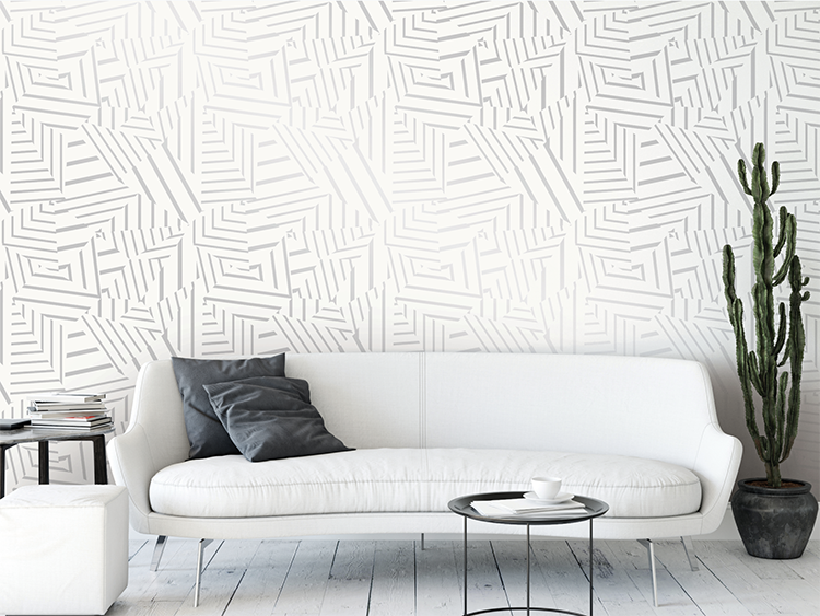 metallic wallpaper decor