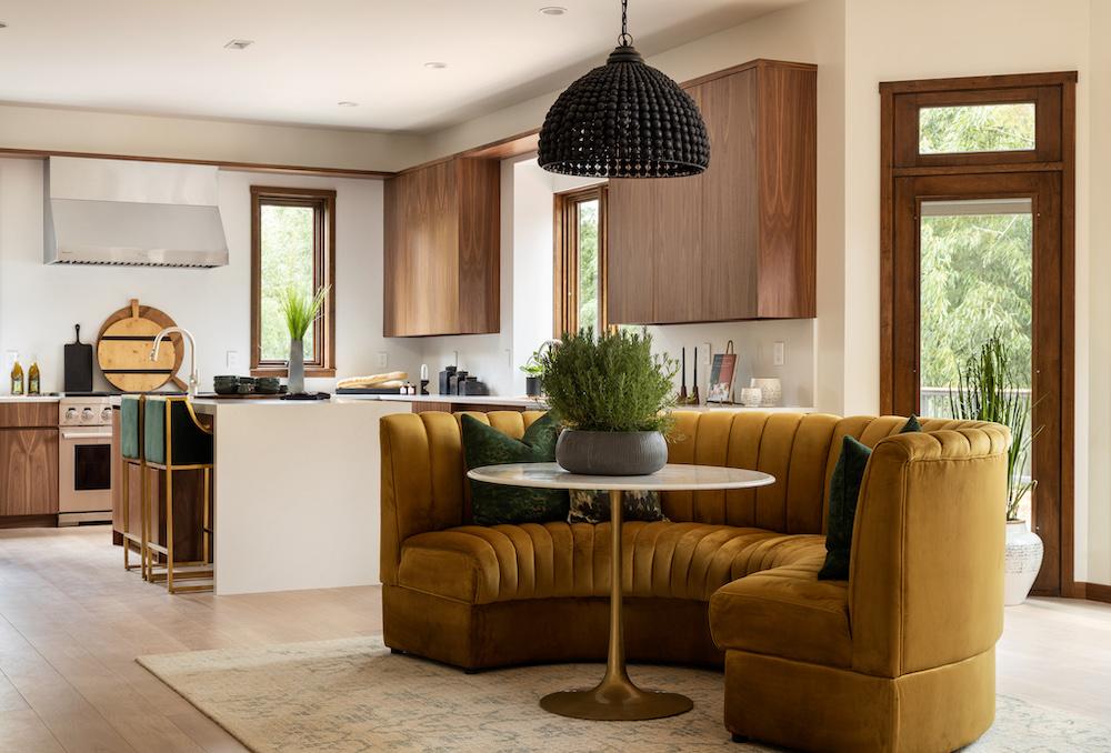 mid-century modern kitchen in aspire house princeton