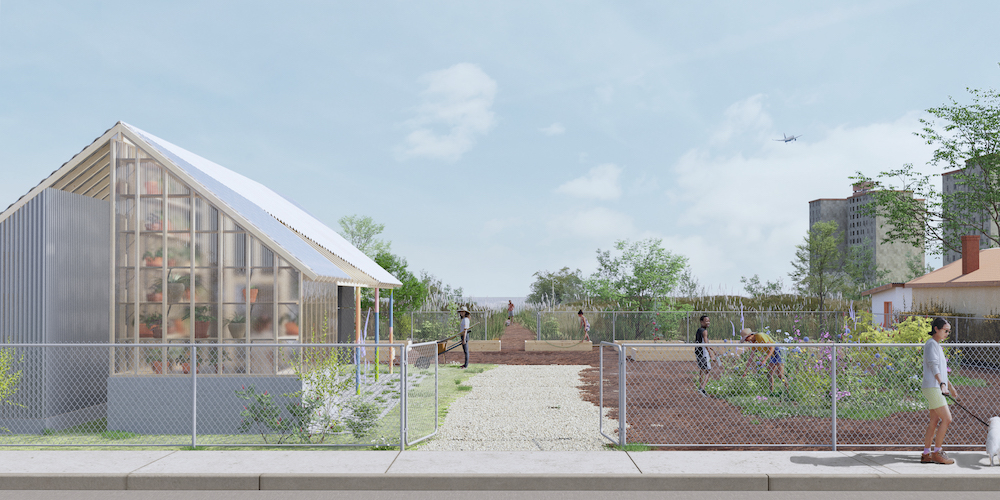 New Affiliates rendering of testbeds community garden
