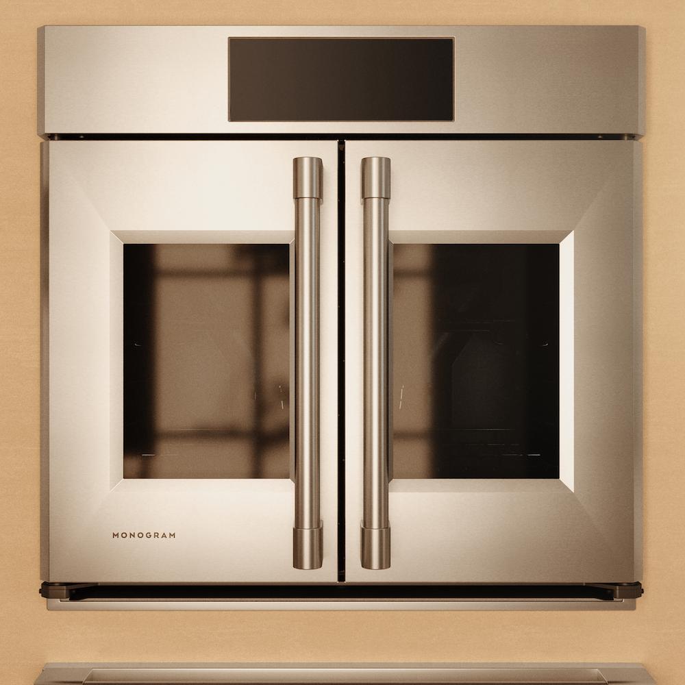 stainless steel Smart French Door Oven with Monogram logo