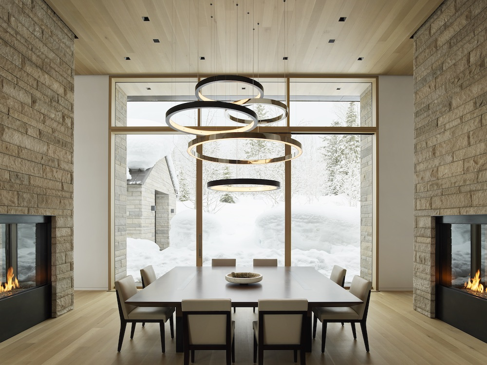 mountain home dining room by clb architects