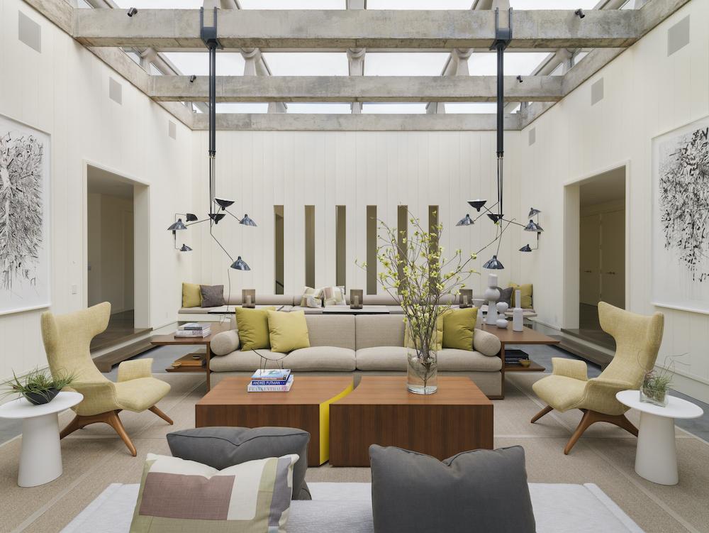 midcentury home living room