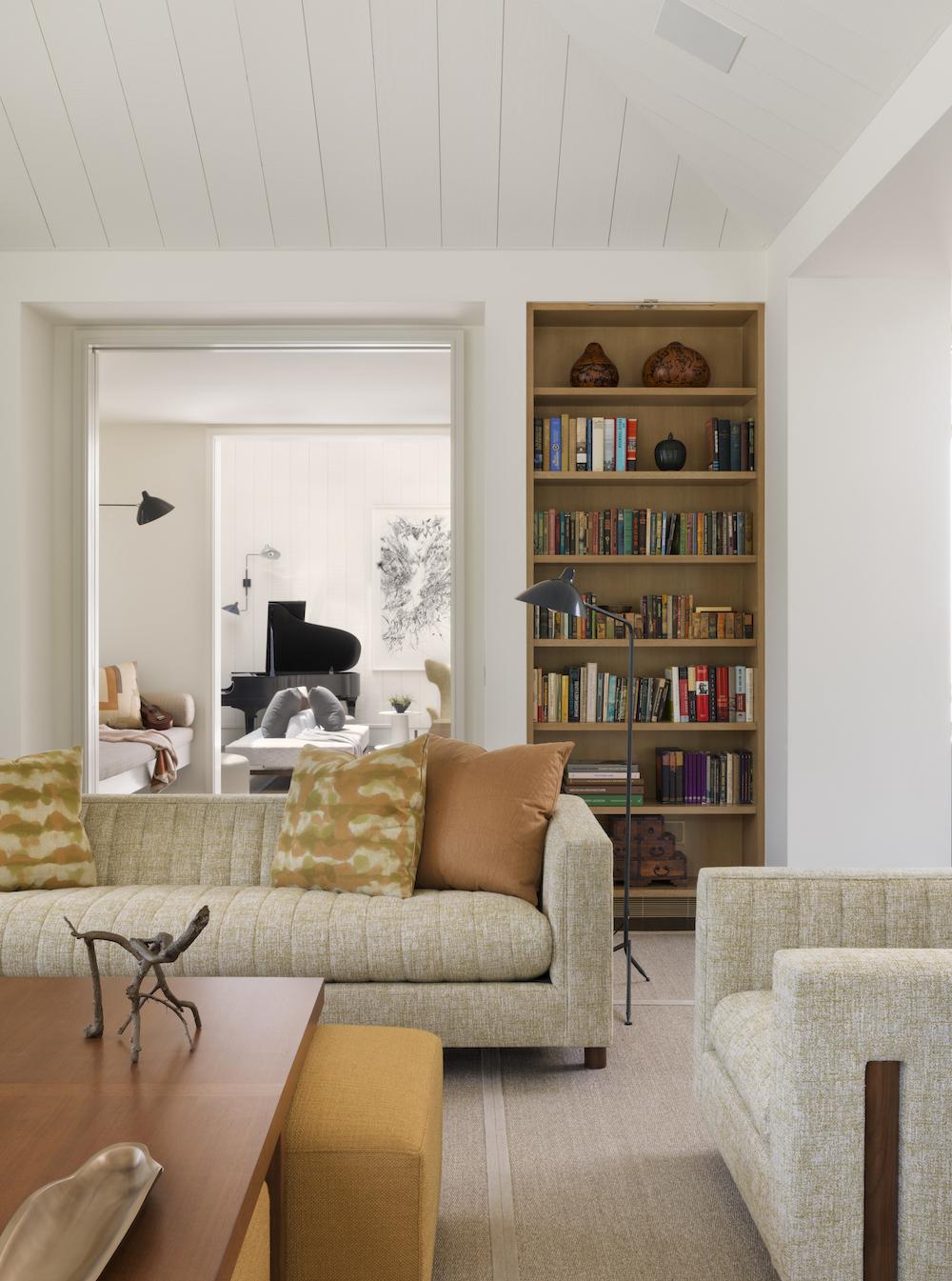 midcentury home family room