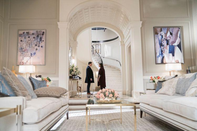 succession interior design artwork display