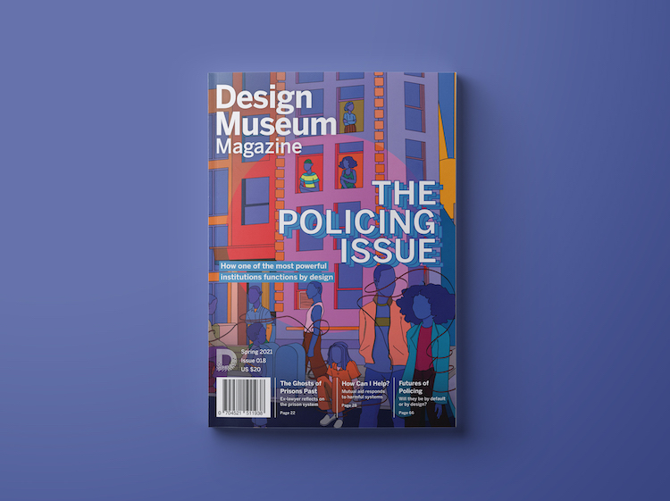 design museum magazine the policing issue cover by blacksneakers