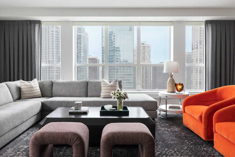 chicago high-rise living area